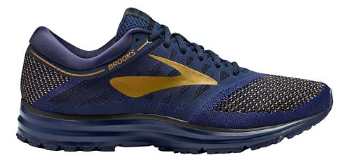 Mens Brooks Revel Running Shoe - Navy/Gold/Black 14