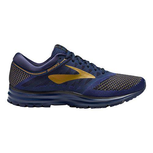 Mens Brooks Revel Running Shoe - Navy/Gold/Black 12.5
