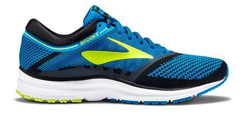 Mens Brooks Revel Running Shoe - Blue/Lime 9.5