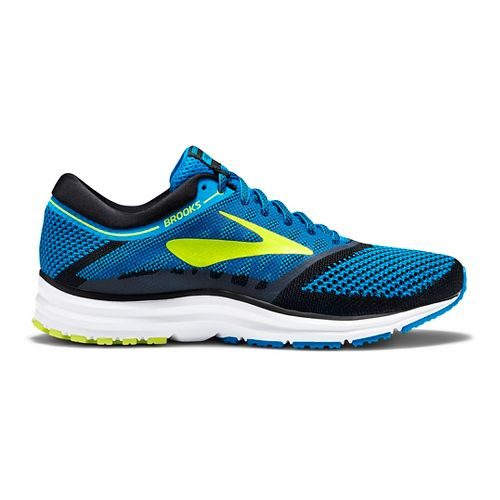 Mens Brooks Revel Running Shoe - Blue/Lime 11.5