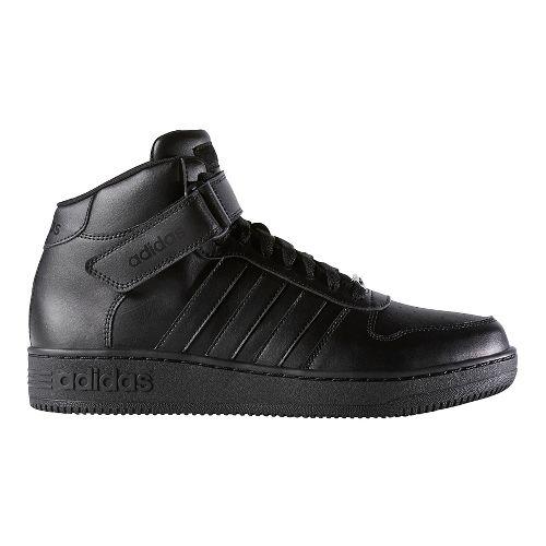 Mens adidas Team Court Mid Casual Shoe - Core Black 8.5
