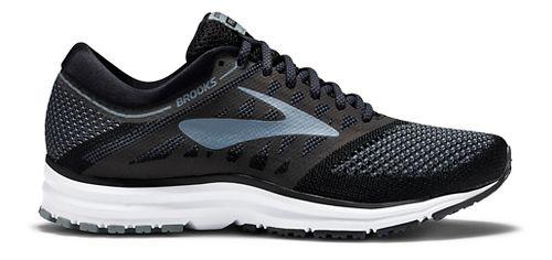 Womens Brooks Revel Running Shoe - Black/Grey 6.5