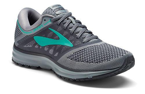 Womens Brooks Revel Running Shoe - Grey/Teal 6