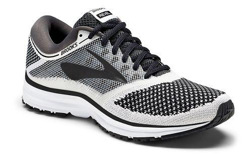 Womens Brooks Revel Running Shoe - White/Black 10.5