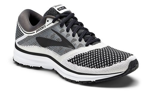 Womens Brooks Revel Running Shoe - White/Black 11.5