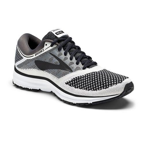 Womens Brooks Revel Running Shoe - White/Black 9.5
