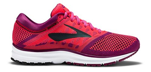 Womens Brooks Revel Running Shoe - Pink/Black 12