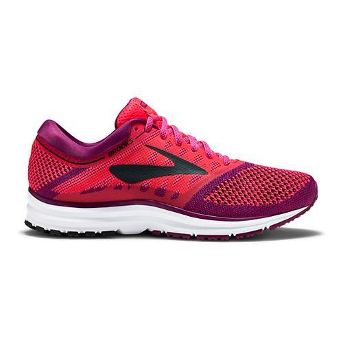 Womens Brooks Revel Running Shoe - Pink/Black 8
