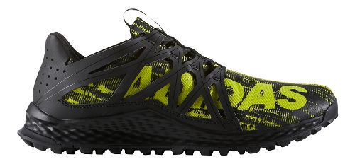 Mens adidas Vigor Bounce Trail Running Shoe - Core Black/Yellow 10.5