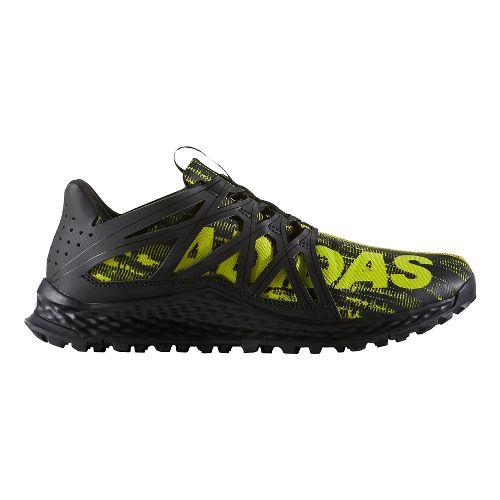 Mens adidas Vigor Bounce Trail Running Shoe - Core Black/Yellow 7.5
