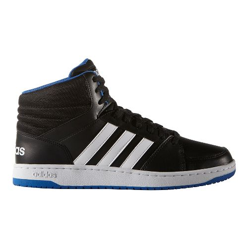 Mens adidas VS Hoops Mid Casual Shoe - Black/White 10
