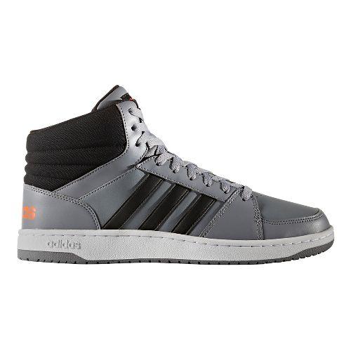 Mens adidas VS Hoops Mid Casual Shoe - Grey/Black 8.5