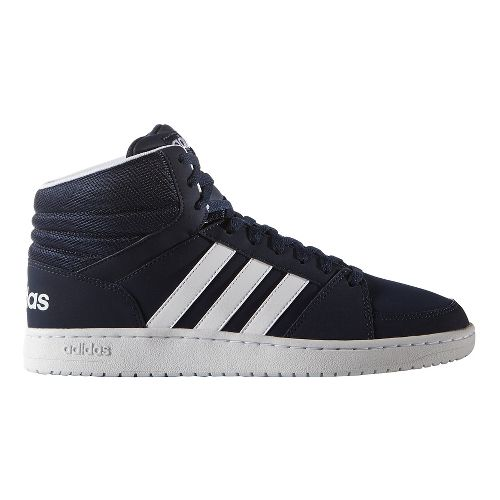 Mens adidas VS Hoops Mid Casual Shoe - Navy/White 7