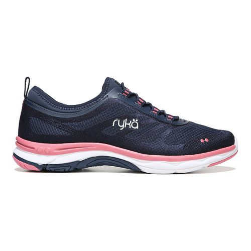 Womens Ryka Fierce Walking Shoe - Navy/Coral 6.5