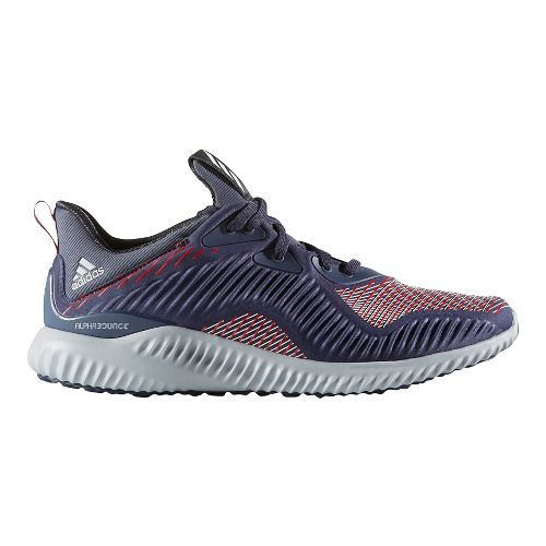 Mens adidas AlphaBounce HPC Casual Shoe - Midnight Grey/Red 9.5