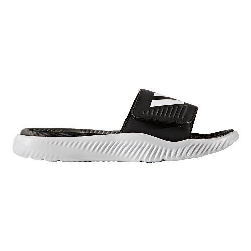 Mens adidas AlphaBounce Slide Sandals Shoe - White/Black 12