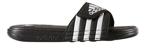 Mens adidas Adissage CF Sandals Shoe - Black/White 5