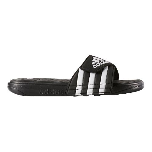 Mens adidas Adissage CF Sandals Shoe - Black/White 10