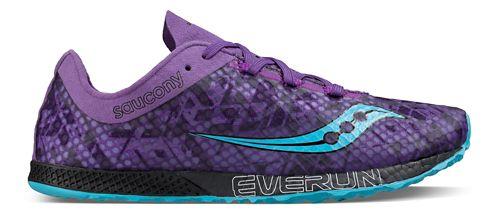 Womens Saucony Endorphin Racer 2 Racing Shoe - Purple Teal 10.5