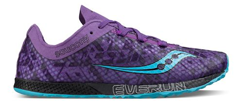 Womens Saucony Endorphin Racer 2 Racing Shoe - Purple Teal 7.5