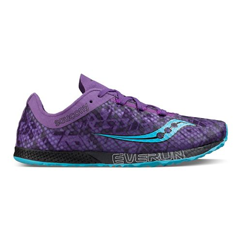 Womens Saucony Endorphin Racer 2 Racing Shoe - Purple Teal 9