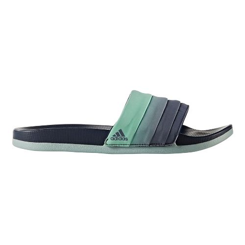 Womens adidas Adilette CF+ Armad Sandals Shoe - Navy/Easy Green 10