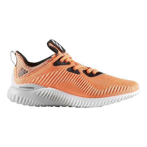 Womens adidas AlphaBounce 1 Casual Shoe - Easy Orange/White 10