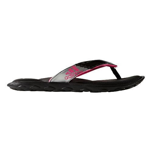 Womens adidas Anyanda Flex Y Sandals Shoe - Core Black/Pink 10