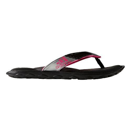 Womens adidas Anyanda Flex Y Sandals Shoe - Core Black/Pink 6