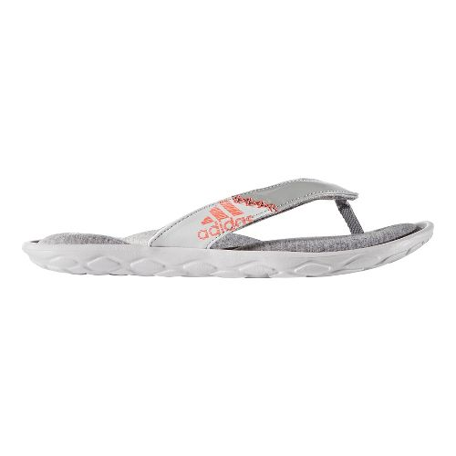 Womens adidas Anyanda Flex Y Sandals Shoe - Grey/Coral 5