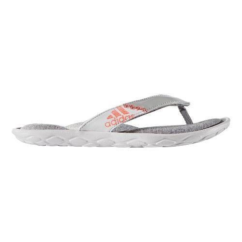 Womens adidas Anyanda Flex Y Sandals Shoe - Grey/Coral 5