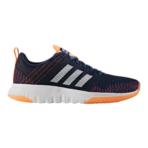 Womens adidas Cloudfoam Super Flex Casual Shoe - Mystery Blue/White 7