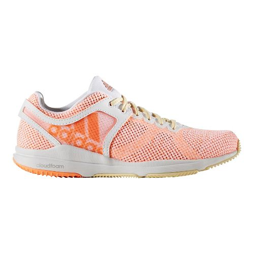 Womens adidas CrazyTrain CF Cross Training Shoe - White/Orange 7