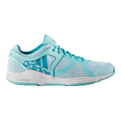 Womens adidas CrazyTrain CF Cross Training Shoe - White/Aqua 8