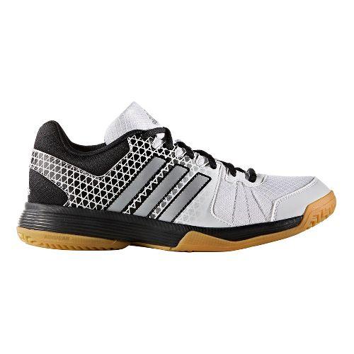 Womens adidas Ligra 4 Court Shoe - White/Black 3.5