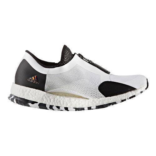 Womens adidas PureBoost X TR Zip Cross Training Shoe - White/Black 7.5