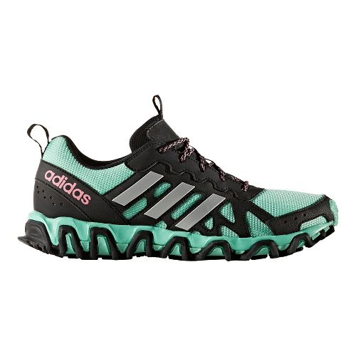 Womens adidas Incision Trail Running Shoe - Black/Easy Green 9