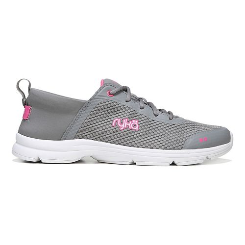 Womens Ryka Joyful Casual Shoe - Grey/Pink 8