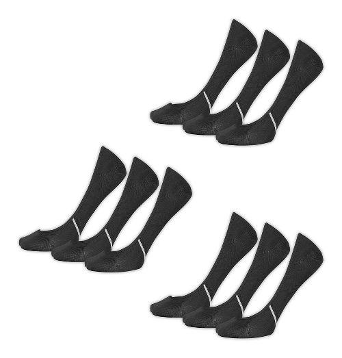 Womens New Balance Lifestyle No Show Liner 9 Pack Socks - Black M