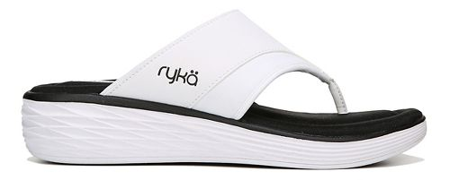 Womens Ryka Natalia Sandals Shoe - White/Black 6