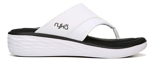 Womens Ryka Natalia Sandals Shoe - White/Black 7
