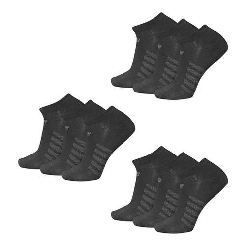 New Balance Lifestyle No Show 9 Pack Socks - Black L