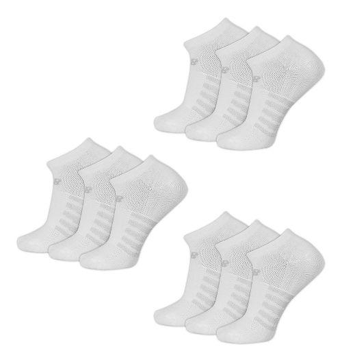 New Balance Lifestyle No Show 9 Pack Socks - White L