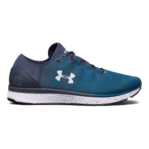 Mens Under Armour Charged Bandit 3 Running Shoe - Blue/Grey 12.5
