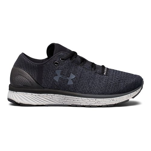 Womens Under Armour Charged Bandit 3 Running Shoe - Black/Glacier Grey 7