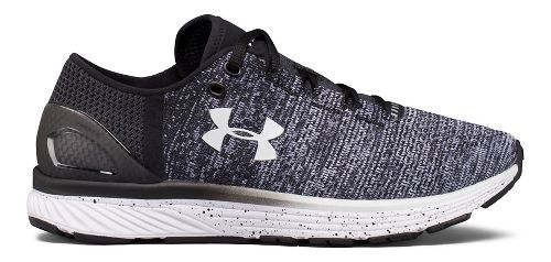 Womens Under Armour Charged Bandit 3 Running Shoe - Black/White 8.5
