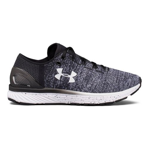 Womens Under Armour Charged Bandit 3 Running Shoe - Black/White 9.5