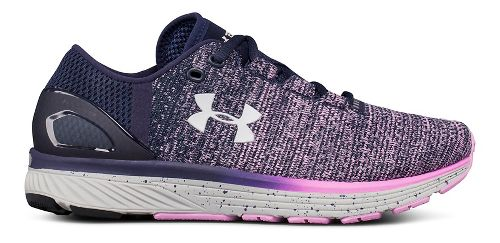 Womens Under Armour Charged Bandit 3 Running Shoe - Navy/Rose 8.5