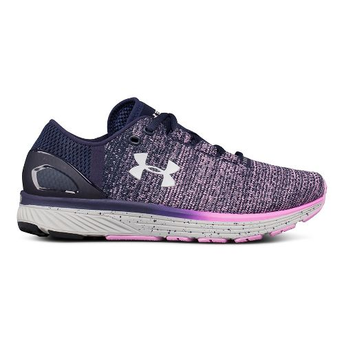 Womens Under Armour Charged Bandit 3 Running Shoe - Navy/Rose 5