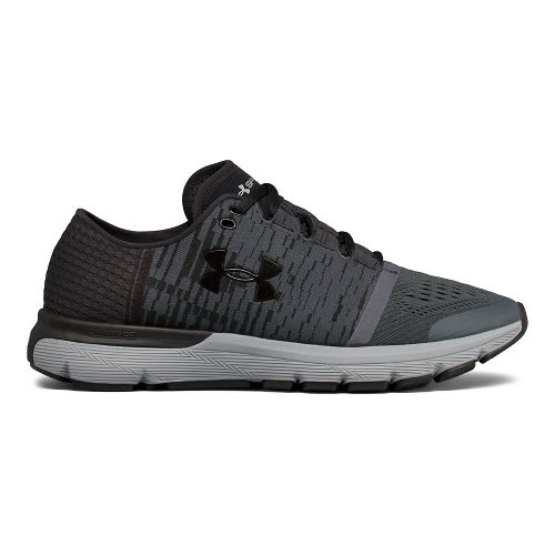 Mens Under Armour Speedform Gemini 3 GR Running Shoe - Black/Grey 8.5